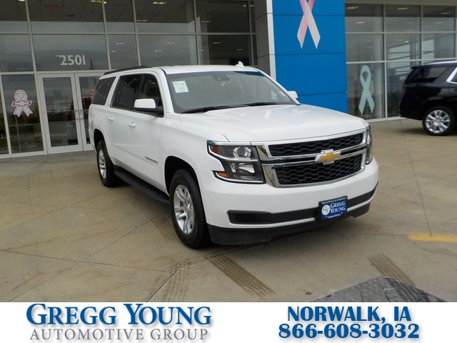 used 2020 chevrolet suburban lt 4d sport utility summit white for sale in omaha b7435 gregg young chevrolet omaha